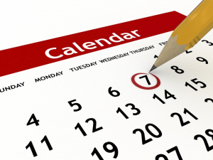 selecting a date from the aviation events calendar
