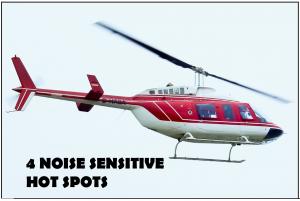 Four Helicopter Noise SEnsitive Hotspots