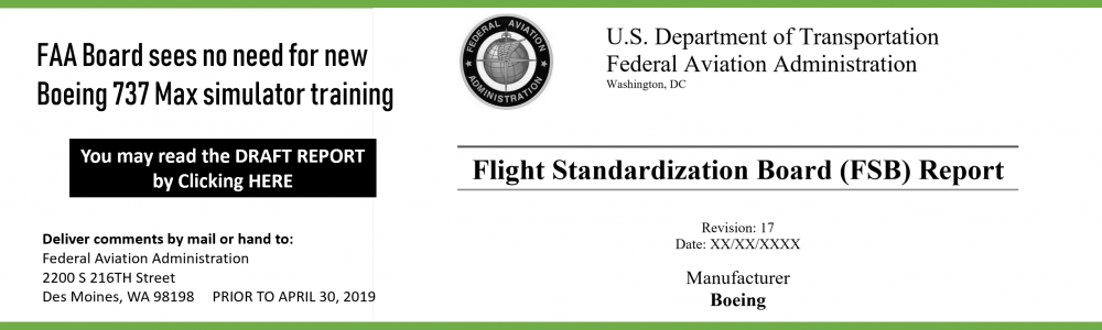 FAA REPORT 737 SIM TRAINING NOT NECESSARY
