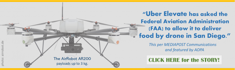 UBER ELEVATE DRONE FOOD DELIVERY