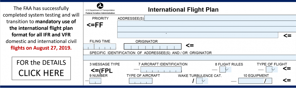 FAA FLIGHT PLAN