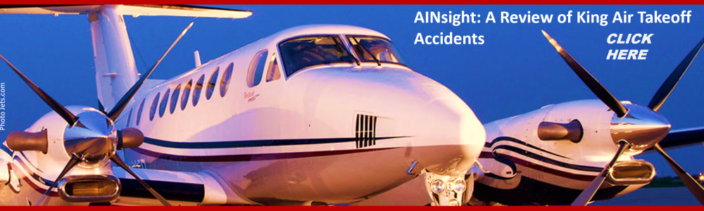 KING AIR T OFF ACCIDENTS