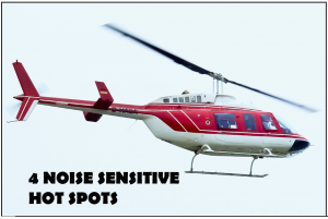 Four Helicopter Noise SEnsitive Hotspots
