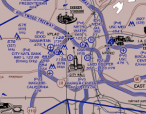 LA Helicopter Chart and Routes