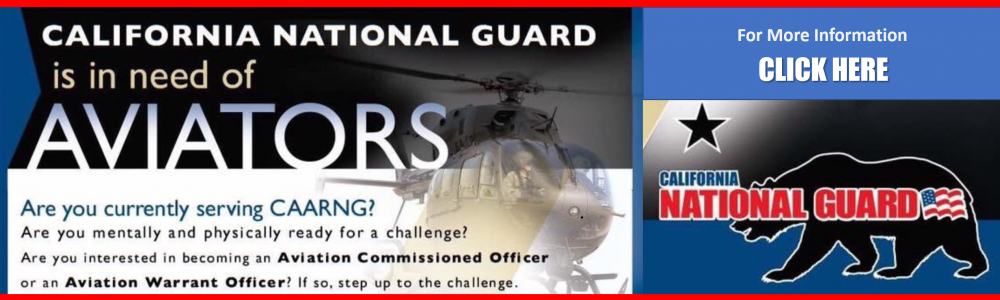 AVIATORS NEEDED FOR THE CA NATIONAL GUARD